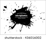 abstract black ink splash... | Shutterstock .eps vector #436016002