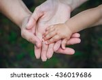 three hands of the same family  ... | Shutterstock . vector #436019686