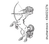 rearing centaur holding bow and ...