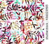 watercolor seamless pattern ...   Shutterstock . vector #436023985
