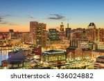 baltimore  maryland  usa... | Shutterstock . vector #436024882