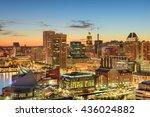 baltimore  maryland  usa... | Shutterstock . vector #436024882