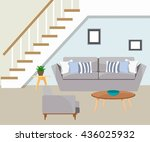 furniture. the living room with ... | Shutterstock .eps vector #436025932