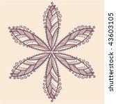 cute ornamental flower | Shutterstock .eps vector #43603105