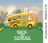 back to school inscription by... | Shutterstock .eps vector #436031176
