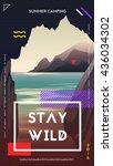 modern motivational poster... | Shutterstock .eps vector #436034302
