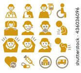 sick  ailing icon set | Shutterstock .eps vector #436036096