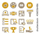 quality icon set | Shutterstock .eps vector #436036486