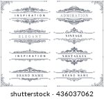 collection of vintage... | Shutterstock .eps vector #436037062