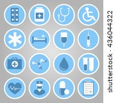 medical flat vector icons for... | Shutterstock .eps vector #436044322