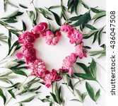 Heart Wreath Frame With Peonies....