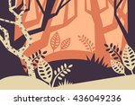 landscape. vector. decorative.... | Shutterstock .eps vector #436049236