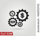 dollar gears icon | Shutterstock .eps vector #436052932