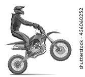 motorcyclist | Shutterstock .eps vector #436060252