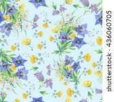 seamless pattern with flowers  | Shutterstock . vector #436060705
