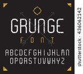 grunge font  vector... | Shutterstock .eps vector #436062142
