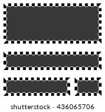 set of blank banners  plaques... | Shutterstock .eps vector #436065706