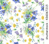 seamless pattern with flowers  | Shutterstock . vector #436067215