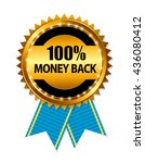 gold label 100  money back.... | Shutterstock .eps vector #436080412