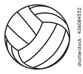 volleyball ball icon | Shutterstock .eps vector #436084552