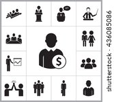 business people icons set | Shutterstock .eps vector #436085086