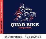 quad bike competition. logo...