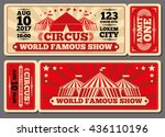 circus magic show entrance... | Shutterstock .eps vector #436110196