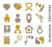 wedding  marry icon set   Shutterstock .eps vector #436114462