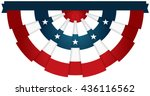 bunting usa flag for july 4th... | Shutterstock .eps vector #436116562
