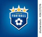 soccer logo design vector... | Shutterstock .eps vector #436119196