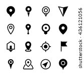 map location icons  set of 16... | Shutterstock .eps vector #436121056