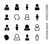 people icons  set of 16 person... | Shutterstock .eps vector #436121086