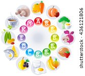 food and drink icon set for... | Shutterstock .eps vector #436121806