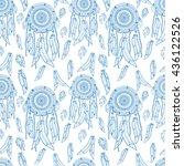 dreamcatcher seamless pattern...   Shutterstock .eps vector #436122526