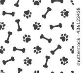 seamless vector pattern   bones ... | Shutterstock .eps vector #436123438