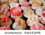 set of various flower fondant... | Shutterstock . vector #436142698