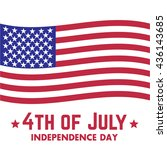 4th of july  independence day... | Shutterstock .eps vector #436143685