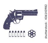 compact revolver  handgun ... | Shutterstock .eps vector #436143982
