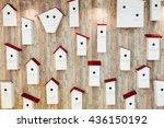 Birdhouses On The Wall....