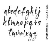 brush pen alphabet. modern... | Shutterstock .eps vector #436156138
