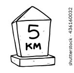 kilometer stone   cartoon... | Shutterstock .eps vector #436160032