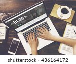 blog blogging homepage social... | Shutterstock . vector #436164172