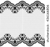 seamless lace pattern  flower... | Shutterstock .eps vector #436166806