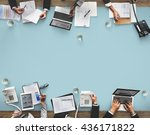 business meeting team... | Shutterstock . vector #436171822