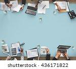 business meeting team... | Shutterstock . vector #436171822