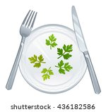 dietary meal | Shutterstock .eps vector #436182586
