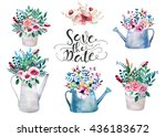 Set Of Watercolor Bouquets ....