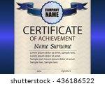 vector certificate of... | Shutterstock .eps vector #436186522