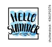 summer calligraphic design... | Shutterstock .eps vector #436191076