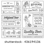 vector beer labels for any use | Shutterstock .eps vector #436194136